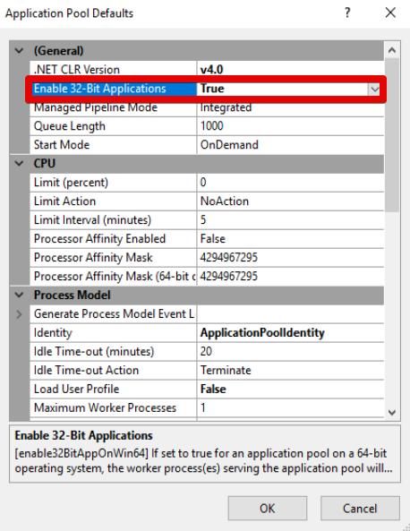 Application Pool 32 Bit