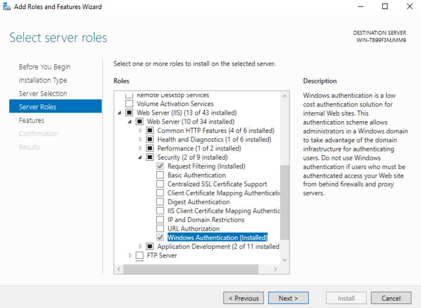IIS Windows Authentication
