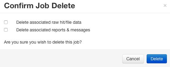 Delete Job Confirmation